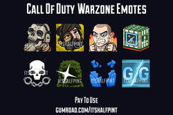 CODWarzone itshalfpint twitch emotes call of duty gg sniper ghost rage