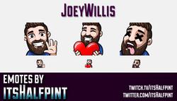 JoeyWillis  | Twitch Emotes | Cute Emotes | Custom Twitch Emotes | Emote Commissions | itsHalfpint |
