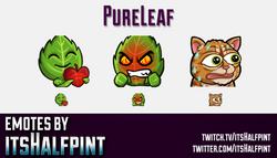 PureLeaf  | Twitch Emotes | Cute Emotes | Custom Twitch Emotes | Emote Commissions | itsHalfpint | M