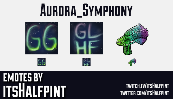 Aurora_Symphony | Twitch Emotes | Cute Emotes | Custom Twitch Emotes | Emote Commissions | itsHalfpi
