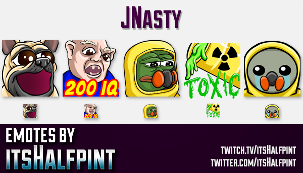 JNasty | Twitch Emotes | Cute Emotes | Custom Twitch Emotes | Emote Commissions | itsHalfpint | Mixe