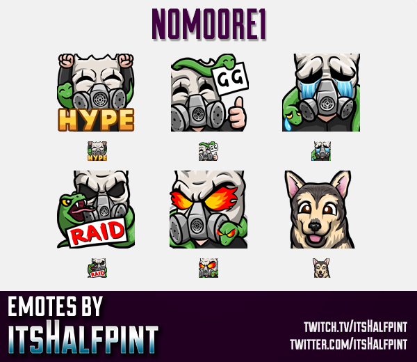 N0M00RE1  | Twitch Emotes | Cute Emotes | Custom Twitch Emotes | Emote Commissions | itsHalfpint | M