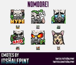 N0M00RE1  | Twitch Emotes | Cute Emotes | Custom Twitch Emotes | Emote Commissions | itsHalfpint | M