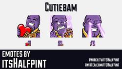 Cutiebam | Thanos | Avengers | Marvel  | Twitch Emotes | Cute | Custom | Commissions | itsHalfpint