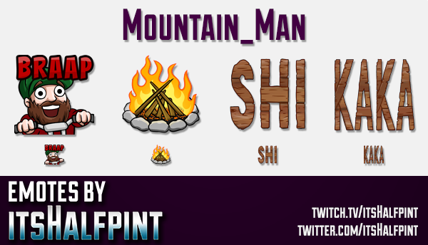 Mountain_Man | Twitch Emotes | Cute Emotes | Custom Twitch Emotes | Emote Commissions | itsHalfpint