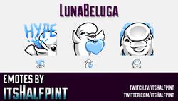 LunaBeluga  | Twitch Emotes | Cute Emotes | Custom Twitch Emotes | Emote Commissions | itsHalfpint |