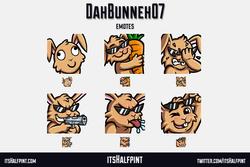 DahBunneh07 Bunny Rabbit Derp Facepalm | itsHalfpint emote artist| Twitch Emotes | Cute | Custom | C