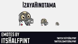 IzayaHinotama | pokemon emotes  | Twitch Emotes | Cute Emotes | Custom Twitch Emotes | Emote Commiss