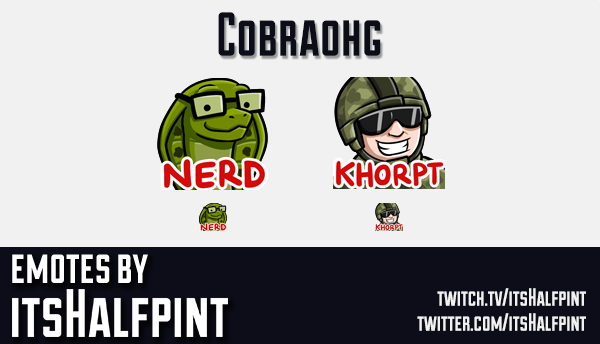 cobraohg | Twitch Emotes | Cute | Custom | Commissions | itsHalfpint