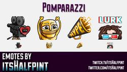 Pomparazzi  | Twitch Emotes | Cute Emotes | Custom Twitch Emotes | Emote Commissions | itsHalfpint |