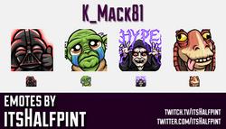 K_Mack81 | Star Wars Emotes | | Twitch Emotes | Cute Emotes | Custom Twitch Emotes | Emote Commissio