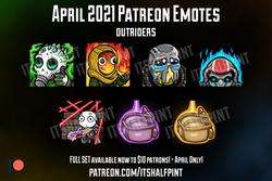 PATREON Outriders | itsHalfpint emote artist| Twitch Emotes | Cute | Custom | Commissions Emotes Tec