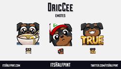 DricCee - DricCee - twitch emotes cute dog rottweiler pokemon hungry food