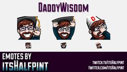 DaddyWisdom  | Twitch Emotes | Cute Emotes | Custom Twitch Emotes | Emote Commissions | itsHalfpint