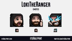 LokiTheRanger | itsHalfpint emote artist| Twitch Emotes | Cute | Custom | Commissions  pog seemsgood