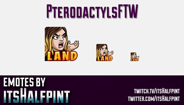PterodactylsFTW | Twitch Emotes | Cute Emotes | Custom Twitch Emotes | Emote Commissions | itsHalfpi