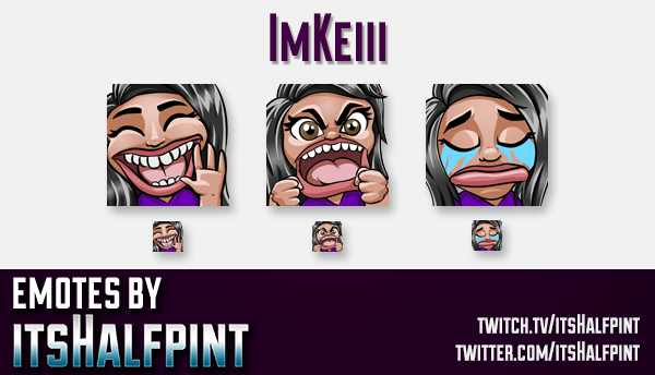 ImKeiii | Twitch Emotes | Cute Emotes | Custom Twitch Emotes | Emote Commissions | itsHalfpint | Mix