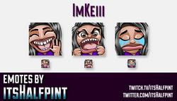 ImKeiii | Twitch Emotes | Cute Emotes | Custom Twitch Emotes | Emote Commissions | itsHalfpint | Mix