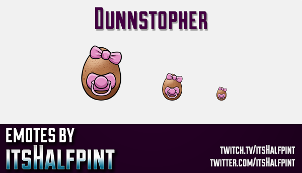 Dunnstopher | Twitch Emotes | Cute Emotes | Custom Twitch Emotes | Emote Commissions | itsHalfpint |