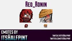 Red_Ronin  | Twitch Emotes | Cute Emotes | Custom Twitch Emotes | Emote Commissions | itsHalfpint |