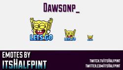Dawsonp_  | Twitch Emotes | Cute Emotes | Custom Twitch Emotes | Emote Commissions | itsHalfpint | M