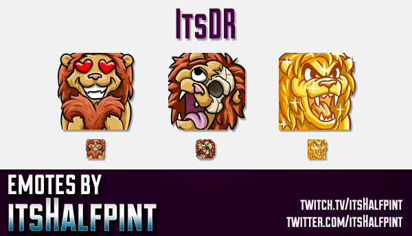 ItsDR | Twitch Emotes | Cute Emotes | Custom Twitch Emotes | Emote Commissions | itsHalfpint | Mixer