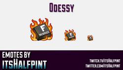 0dessy  | Twitch Emotes | Cute Emotes | Custom Twitch Emotes | Emote Commissions | itsHalfpint | Mix