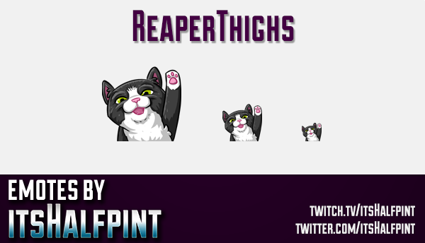ReaperThighs  | Twitch Emotes | Cute Emotes | Custom Twitch Emotes | Emote Commissions | itsHalfpint