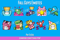 Fall Guys | Twitch Emotes | Cute | Custom | Commissions | itsHalfpint