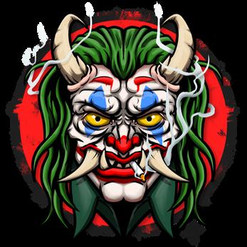 Joker Oni Illustration | Avatar | Logo | Merch Design | Emotes | itsHalfpint