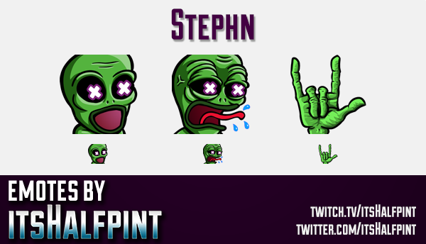 Stephn  | Twitch Emotes | Cute Emotes | Custom Twitch Emotes | Emote Commissions | itsHalfpint | Mix