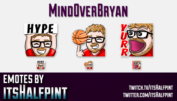 MindOverBryan | Twitch Emotes | Cute Emotes | Custom Twitch Emotes | Emote Commissions | itsHalfpint