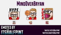 MindOverBryan | Twitch Emotes | Cute Emotes | Custom Twitch Emotes | Emote Commissions | itsHalfpint