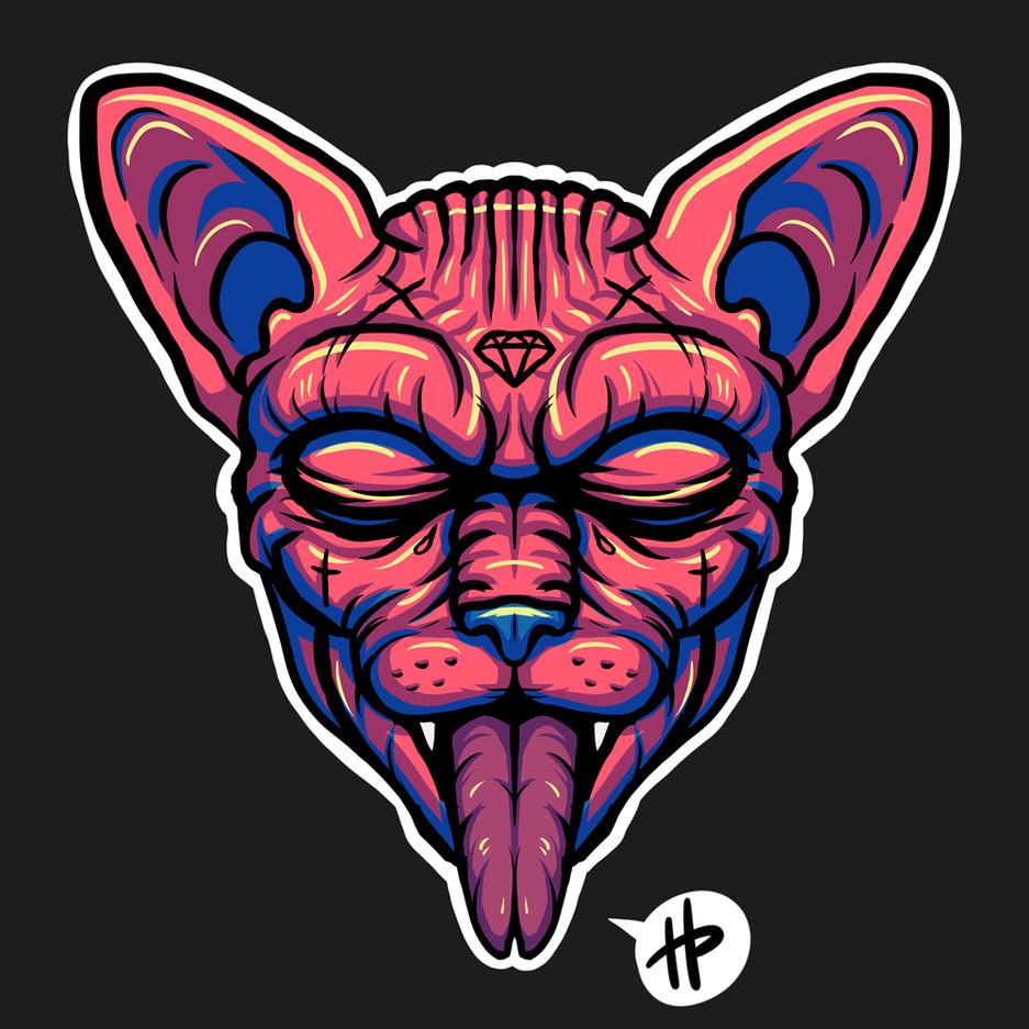 Sphynx Illustration | Avatar | Logo | Merch Design | Emotes | itsHalfpint