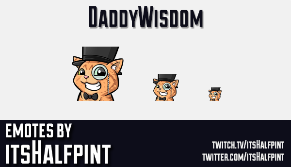 DaddyWisdom | Twitch Emotes | Cute | Custom | Commissions | itsHalfpint