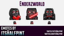 Enderzworld  | Twitch Emotes | Cute Emotes | Custom Twitch Emotes | Emote Commissions | itsHalfpint