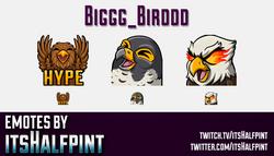 Biggg_Birddd  | Twitch Emotes | Cute Emotes | Custom Twitch Emotes | Emote Commissions | itsHalfpint