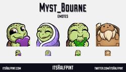 Myst_Bourne | itsHalfpint emote artist| Twitch Emotes | Cute | Custom | Commissions  turtles eevee p