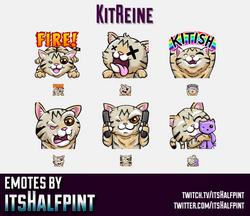 KitReine | Twitch Emotes | Cute Emotes | Custom Twitch Emotes | Emote Commissions | itsHalfpint | Mi