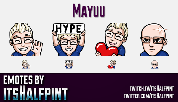 Mayuu  | Twitch Emotes | Cute Emotes | Custom Twitch Emotes | Emote Commissions | itsHalfpint | Mixe