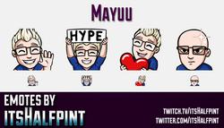 Mayuu  | Twitch Emotes | Cute Emotes | Custom Twitch Emotes | Emote Commissions | itsHalfpint | Mixe
