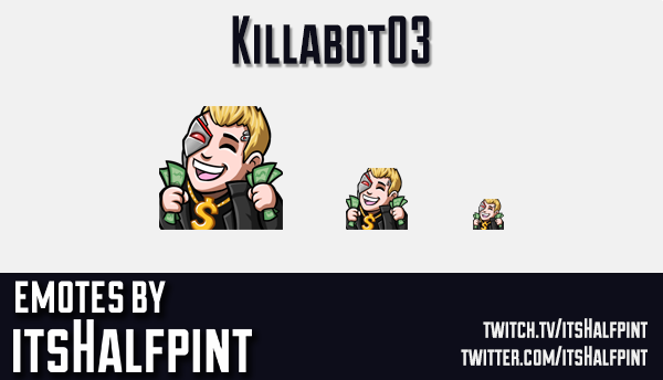Killabot03 | Twitch Emotes | Cute | Custom | Commissions | itsHalfpint