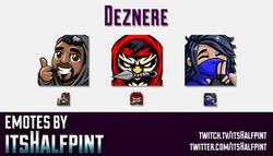 Deznere  | Twitch Emotes | Cute Emotes | Custom Twitch Emotes | Emote Commissions | itsHalfpint | Mi
