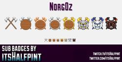 Norg0z sub badges emotes shield bear cool