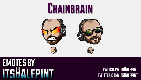 Chainbrain | Twitch Emotes | Cute Emotes | Custom Twitch Emotes | Emote Commissions | itsHalfpint |