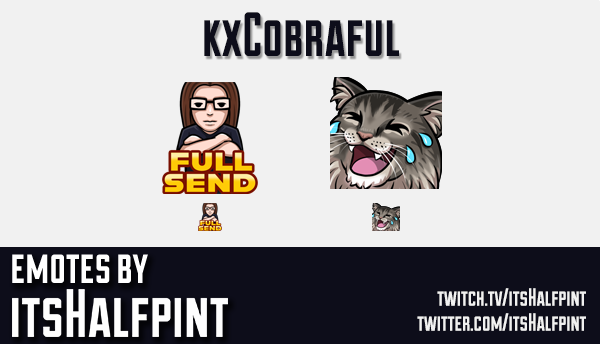 kxCobraful  | Twitch Emotes | Cute Emotes | Custom Twitch Emotes | Emote Commissions | itsHalfpint |