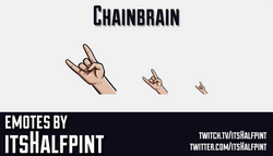Chainbrain | Twitch Emotes | Cute | Custom | Commissions | itsHalfpint
