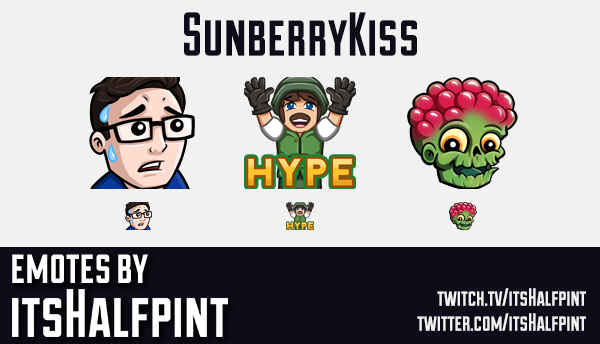SunberryKiss  | Twitch Emotes | Cute Emotes | Custom Twitch Emotes | Emote Commissions | itsHalfpint