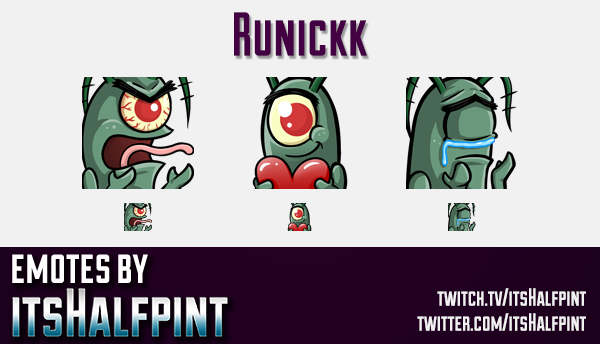 Runickk | Twitch Emotes | Cute Emotes | Custom Twitch Emotes | Emote Commissions | itsHalfpint | Mix