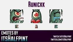 Runickk | Twitch Emotes | Cute Emotes | Custom Twitch Emotes | Emote Commissions | itsHalfpint | Mix